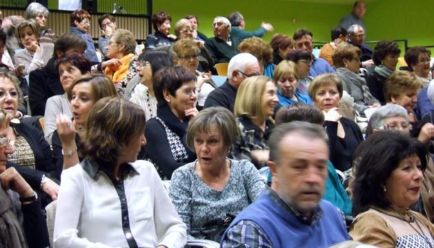 Participantes en uno de los actos celebrados en Castejón con motivo de la festividad de Santa Águeda
