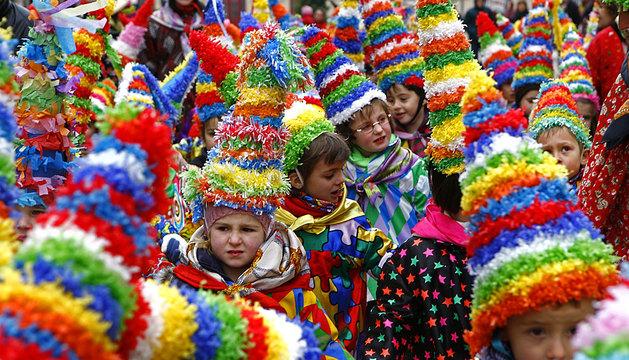 Una imagen del carnaval rural de Estella del año pasado.