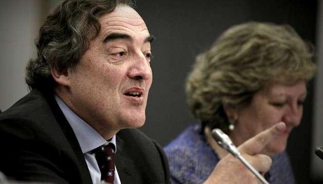 Juan Rosell en la presentación de la propuesta de reforma fiscal