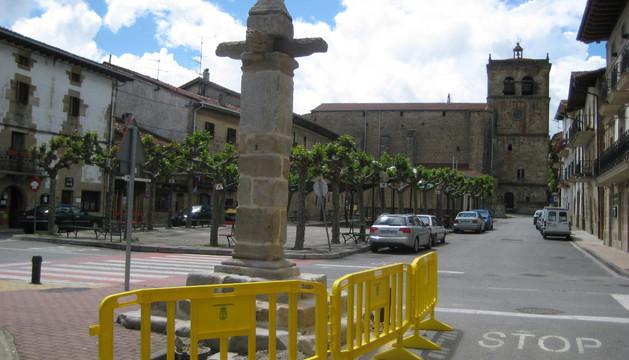 En la imagen de archivo, la zona de actuación, que abarca la Herriko Plaza y los aledaños de la picota