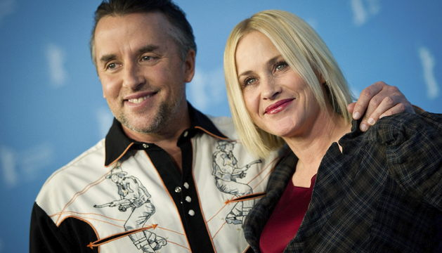 Patricia Arquette con el director estadounidense Richard Linklater.