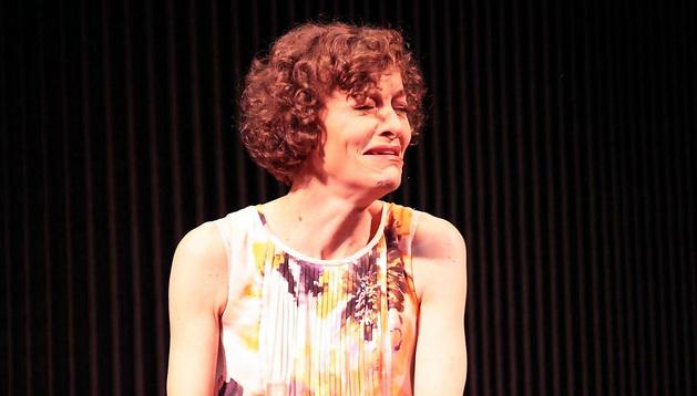 Nuria González, durante la representación