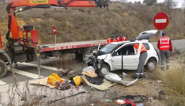 Accidente mortal en Morentin