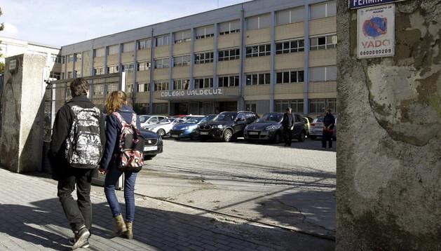 Vista de la entrada al colegio Valdeluz Agustinos del distrito Fuencarral-El Pardo de Madrid