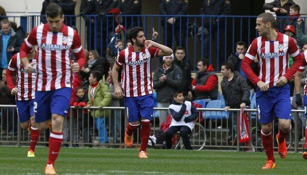 Raúl García marcó el primer gol del Atlético