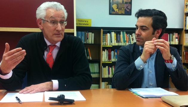 Palacios y Zalba, en la presentación del libro