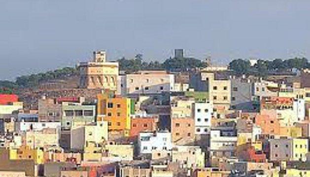 Una panorámica de este barrio de Melilla