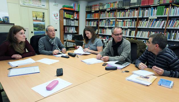 Equipo de profesores que asesoran al Gobierno de Navarra en el plan de lectura