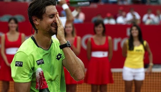 David Ferrer celebra su victoria en el torneo de Buenos Aires