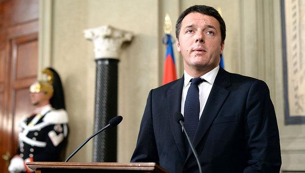 Matteo Renzi, en su comparecencia en el Quirinale