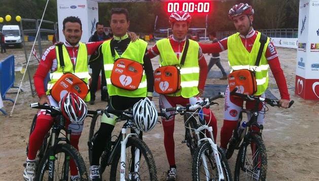 En Madrid ya hay pruebas con ciclistas y bicicletas de rescate cardiaco