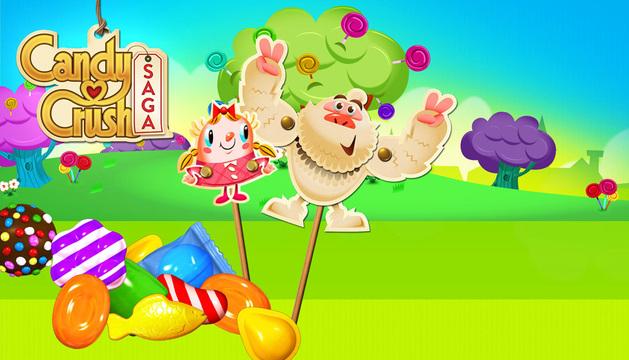 Logo del videjuego Candy Crush Saga.