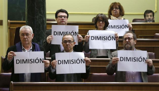 Los diputados de la Izquierda Plural piden en el Congreso la dimisión de Jorge Fernández Díaz