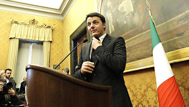 Renzi, en la rueda de prensa tras la conclusión de las rondas de consultas