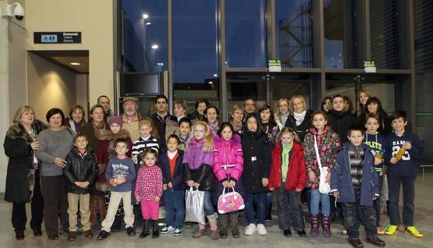 Durante la estancia de niños ucranianos en Navarra, las pasadas navidades