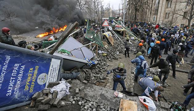 La violencia se descontrola este jueves en Kiev