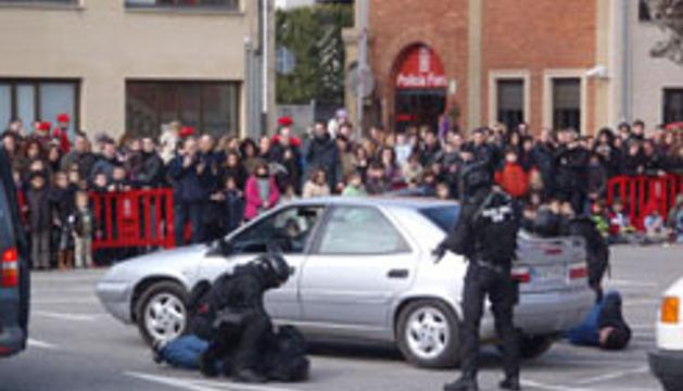 Una edición anterior del Día de la Policía Foral