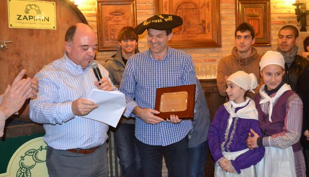 Desde la izda., José Antonio Fernández Pipaón, Titín III, Oiane Faces y Iosune Fernández
