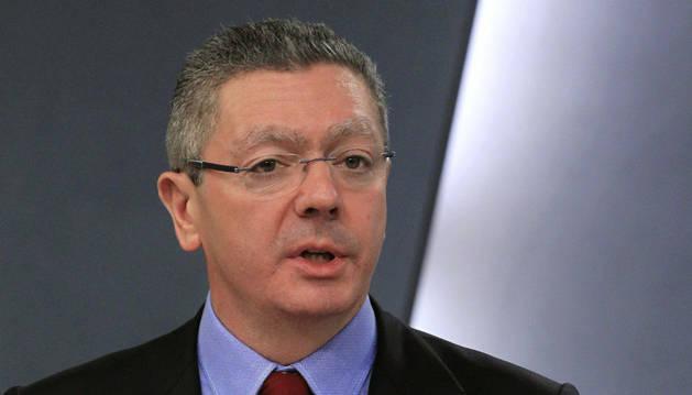 El ministro de Justicia, Alberto Ruiz Gallardón, ha comparecido en la habitual rueda de prensa del Consejo de Ministro.