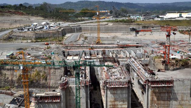 Panorámica de las obras de ampliación del Canal de Panamá