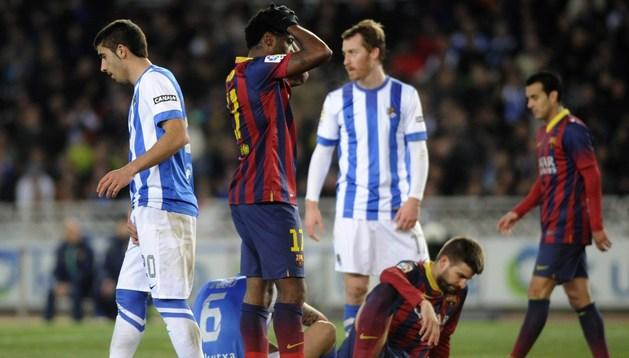 La Real Sociedad noquea al Barça y pone la Liga patas arriba