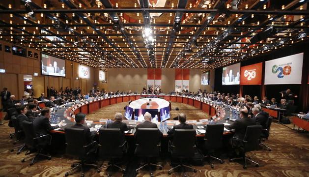 Los ministros de Finanzas y gobernadores de los bancos centrales de los países que forman el G20 se reunieron este sábado en Sídney.
