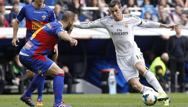 Gareth Bale, que marcó un gran segundo gol, ante el Elche