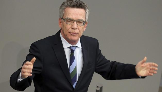El ministro del Interior, Thomas de Maiziere, uno de los objetivos centrales del espionaje estadounidense.