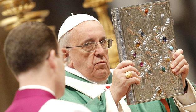 El papa Francisco durante la homilía celebrada este domingo.