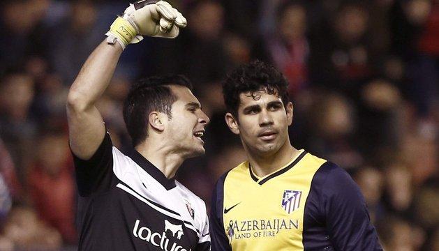 Andrés Fernández y Diego Costa
