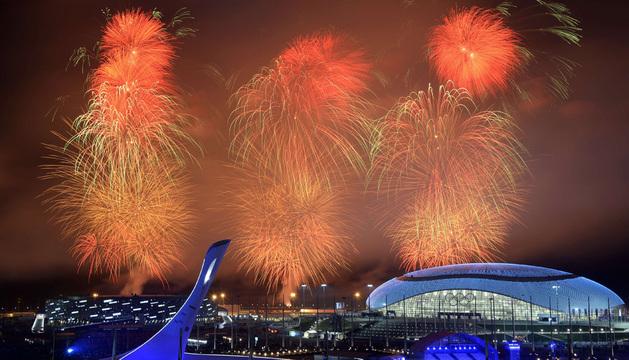 Ceremonia de clausura de los JJ OO de Invierno en Sochi.