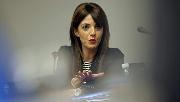 María Jesús Valdemoros, declarando este lunes