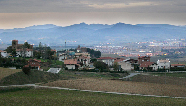Vista del pueblo de Arlegui, en la Cendea de Galar