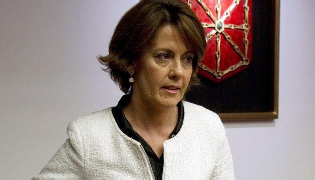 Yolanda Barcina, en la comisión de investigación.