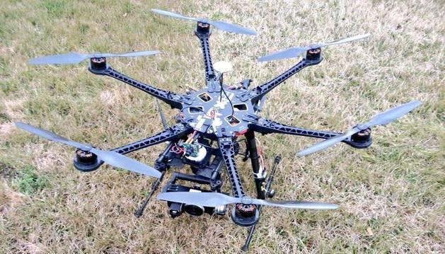 El aparato o dron utilizado por Canal Plus durante su retransmisión