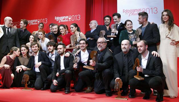 Los galardonados en el acto de entrega de los Premios Fotogramas de Plata