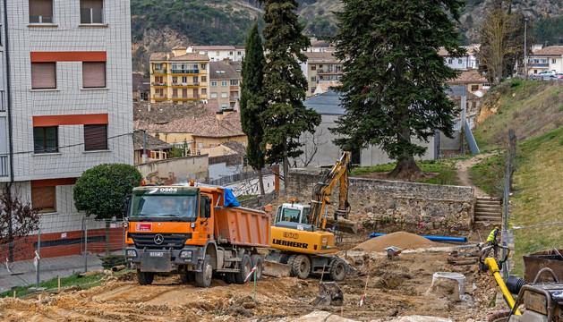 La calle Juan de Labrit, ahora en plena fase de remodelación