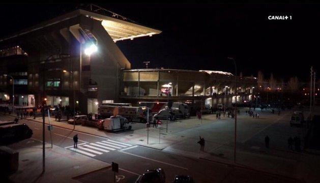 Imágenes del Sadar emitidas por Canal Plus en el partido ante el Atlético