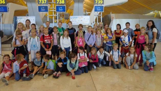 En una despedida de los niños ucranianos de Segunda Familia