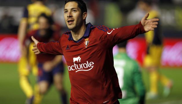 Álvaro Cejudo celebra su gol ante el Atlético de Madrid