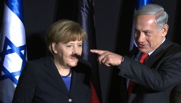La imagen de la polémica de Angela Merkel y Benjamin Netanyahu