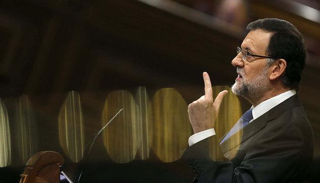 Rajoy , en el Congreso de los Diputados.