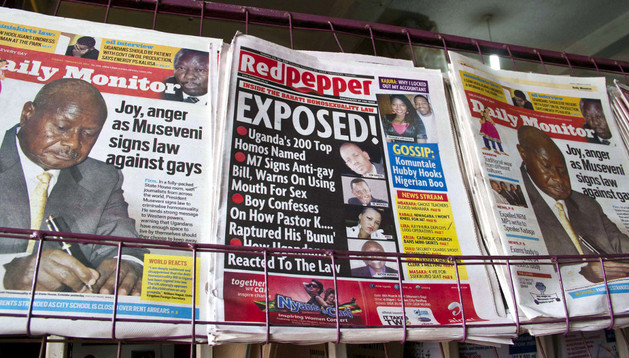 En el centro del quiosco, la polémica portada de el periódico Red Pepper