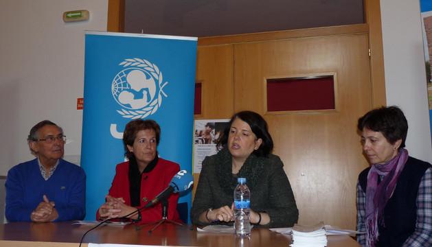 Félix Alfaro, Begoña Ganuza, Maider Gabilondo y Marta Estébanez