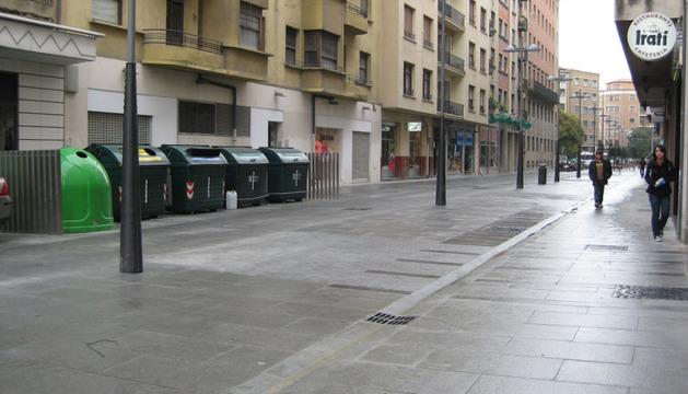 La calle Tudela de Pamplona