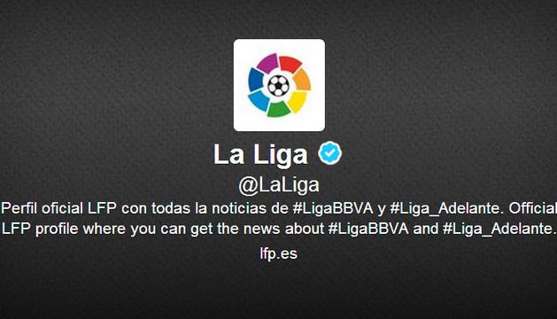 La cuenta de Twitter de 'La Liga'