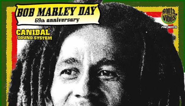 Cartel del concierto homenaje a Bob Marley.