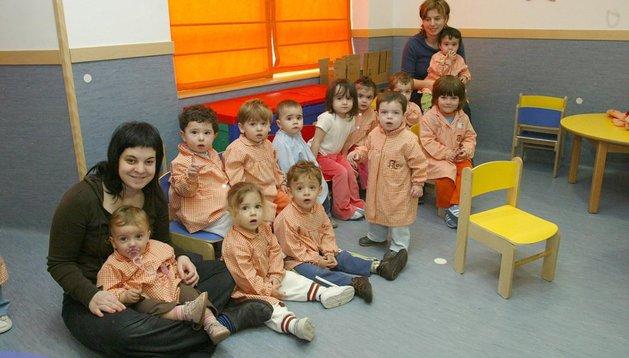 Una clase de la escuela infantil Nana, en Sarriguren