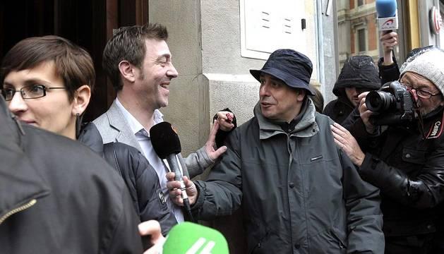 Dirigentes del Partido Socialista de Navarra mantuvieron una reunión tras la conclusión de la comisión que investigaba las irregularidades en la Hacienda foral.