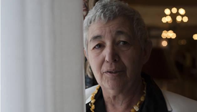 La escritora catalana  Ana María Moix, en un acto de la Universidad Internacional Menéndez Pelayo en 2012.